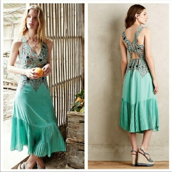 1b7ae345d0ca Anthropologie Dresses & Skirts - Anthropologie Maeve Canyon Creek Dress 14  Mermaid